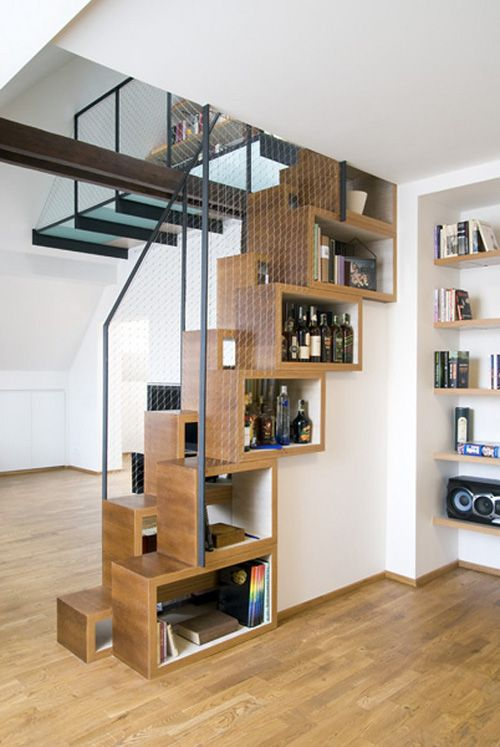 Best Creative Stair Design With Storage Box In Stair Wall 400 x 300