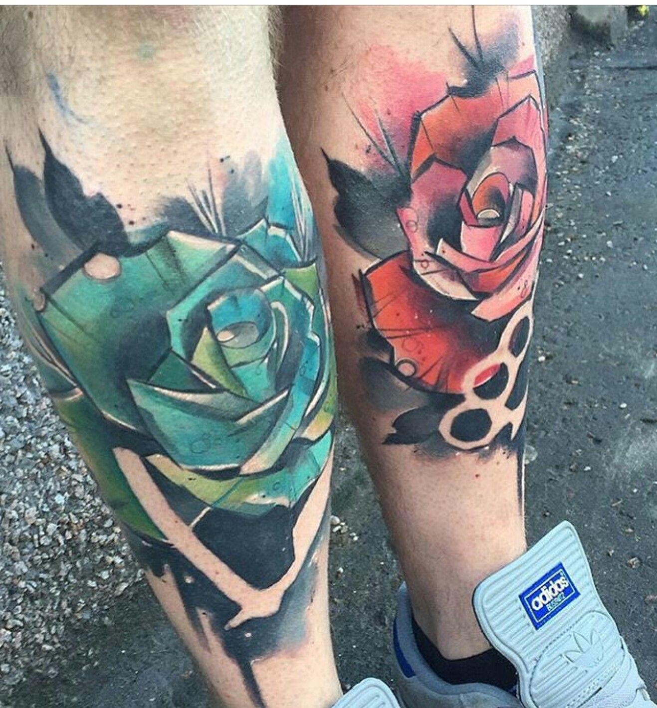 Tattoo Meaning Razor: Brass Knuckles & Straight Razor