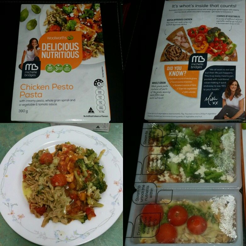 Michelle Bridges Woolworths Delicious Nutritious Frozen Meal Chicken Pesto Pasta Love This 10 10 Pesto Chicken Pesto Chicken Pasta Pesto Pasta
