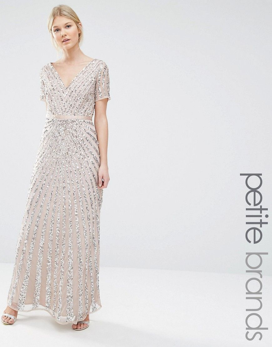 Maya Petite Sequin All Over Maxi Dress at asos.com