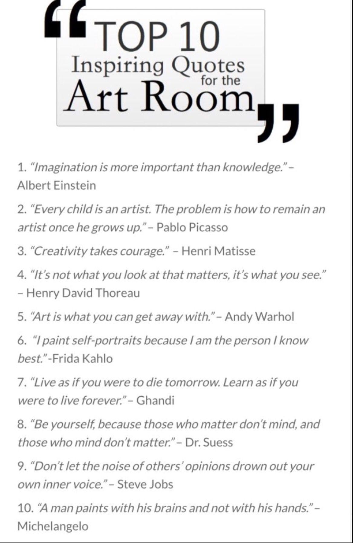Pin By Krafti Priyanka On Art Quotes Art Room Posters Art Room Words Arts live education room