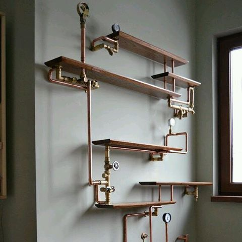Steampunk Shelves See More Ideas About Copper Chang E 3