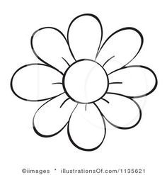Flower outline daisy. Clipart clipartfest bunting