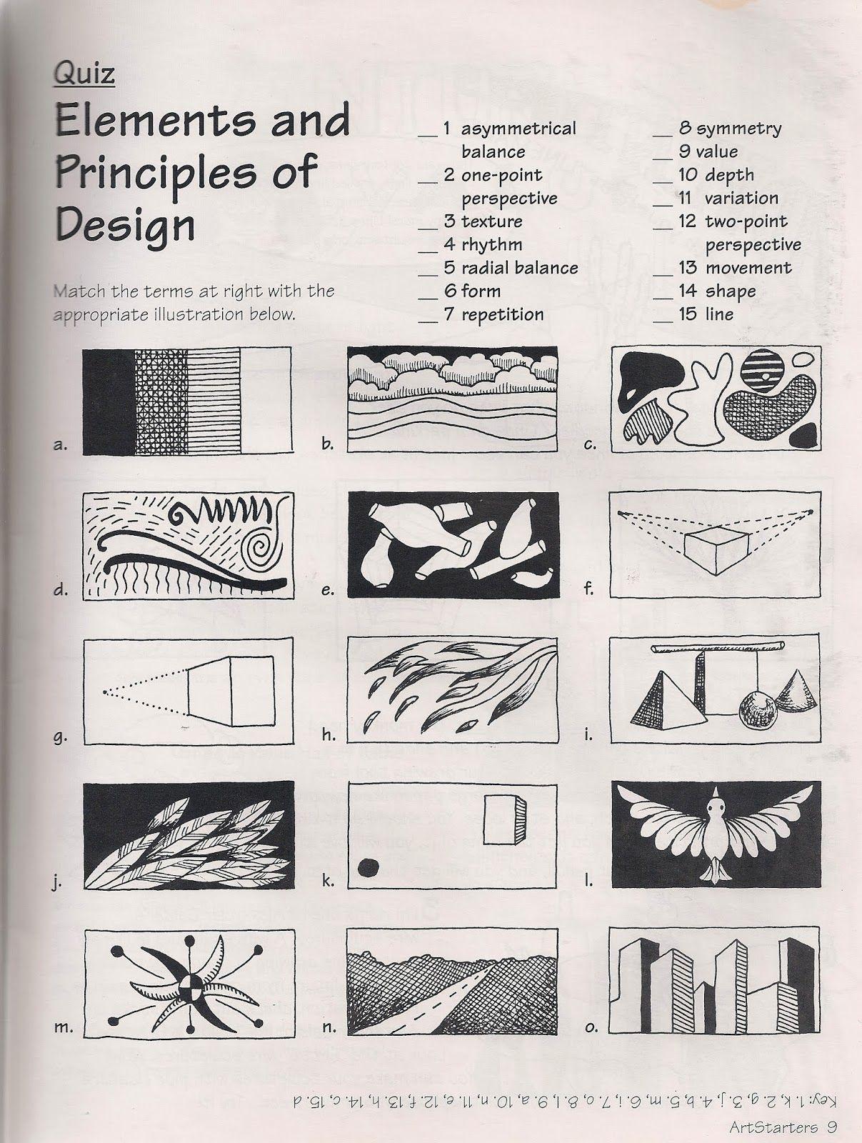 Worksheets Elements And Principles Of Art Worksheet elements and principles of design art lessons pinterest worksheets design
