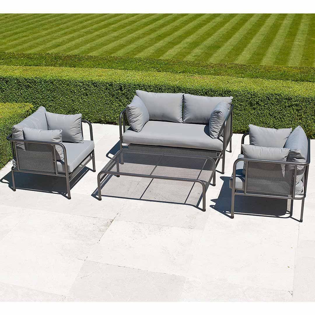 Alexander Rose Portofino 4 Piece Garden Sofa Lounge Set | Garden ...