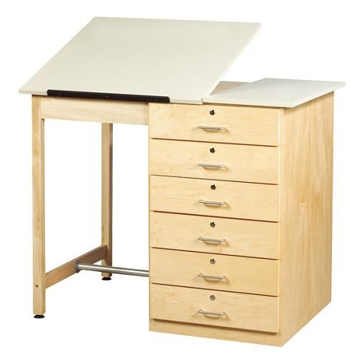 Drawer Base Drafting Table 48 W Split