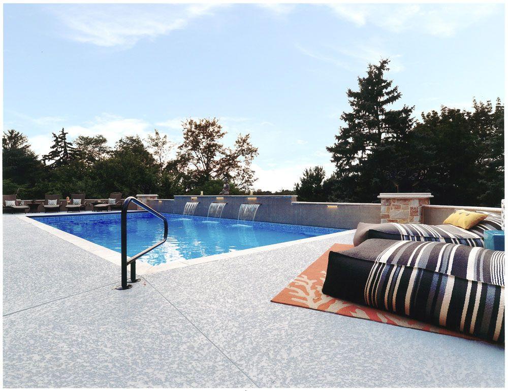 Classic Texture Pool Deck Surround Cool Deck Concrete Pool Pool Decks