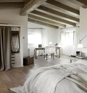 Le mélange gagnant bois et blanc cassé dans une chambre | reform ...