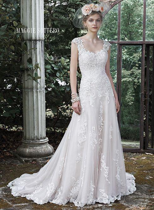 Maggie Sottero Wedding Dresses | Escote de ilusión, Vestidos y ...