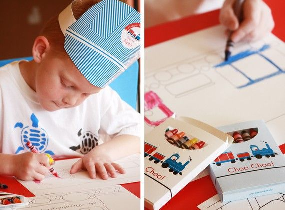 Train Birthday PRINTABLE PARTY COLLECTION-great ideas for the table