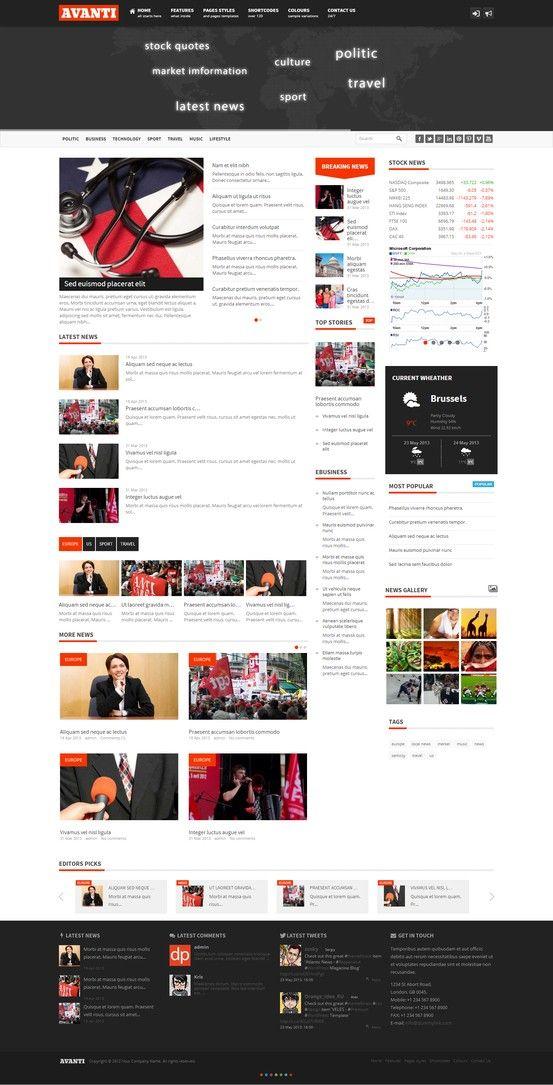 Wordpress Avanti Mutlipurpose News Magazine Theme Themeforest Wordpress The Magazine Theme Wordpress Website Design Wordpress Wordpress Website Design
