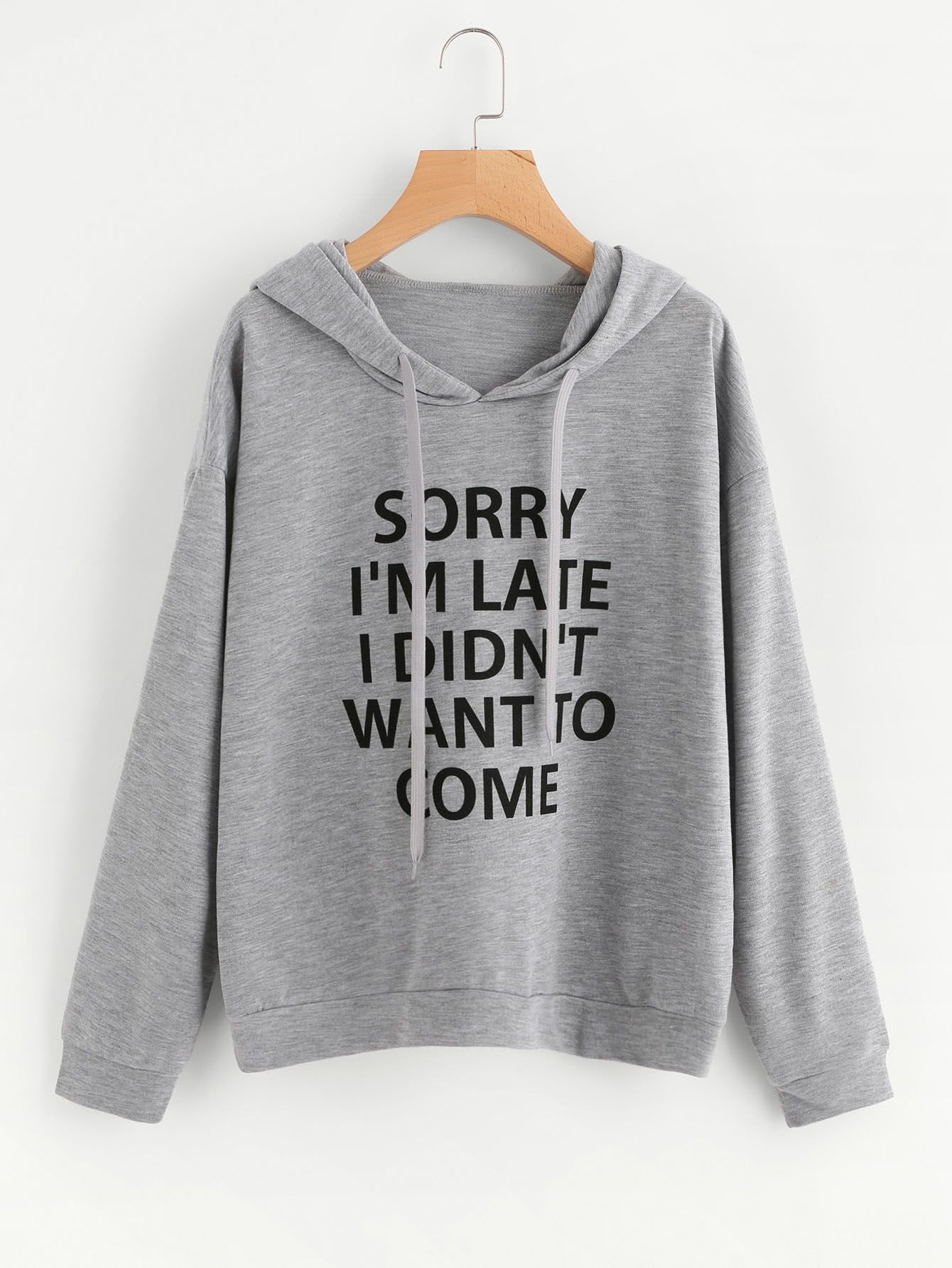 Shop Slogan Print Hoodie online. SheIn offers Slogan Print Hoodie   more to  fit your fashionable needs. 10ef0cbe6