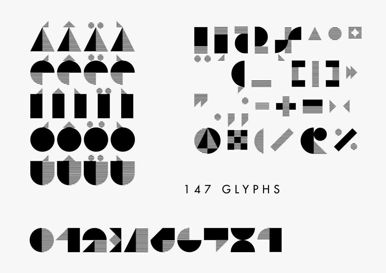 Bauhaus-light free font download.