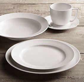 Chinese Porcelain Grand-Rimmed Dinnerware White | Restoration Hardware & Chinese Porcelain Grand-Rimmed Dinnerware White | Restoration ...