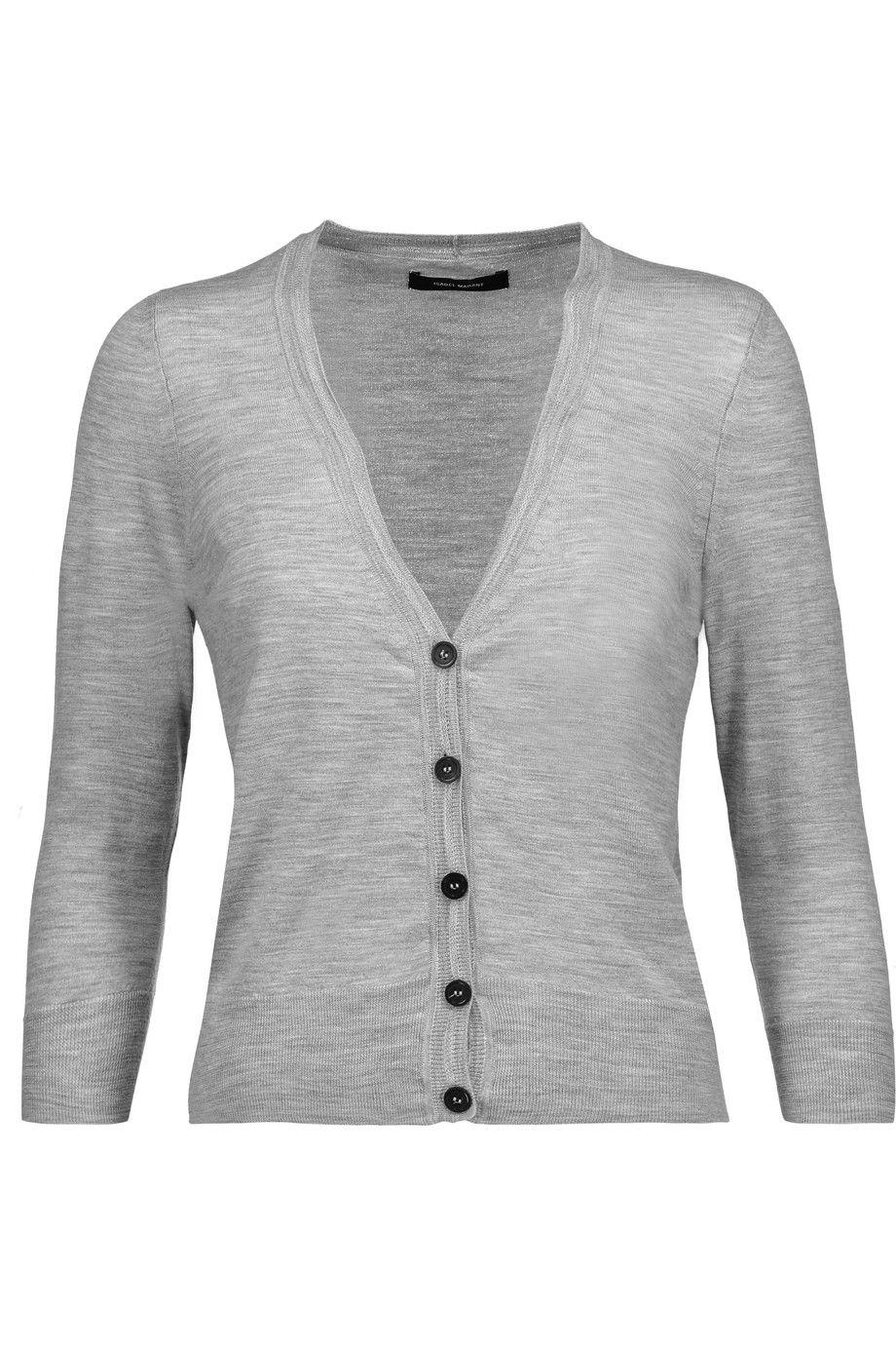 ISABEL MARANT Cecile Merino Wool Cardigan. #isabelmarant #cloth ...