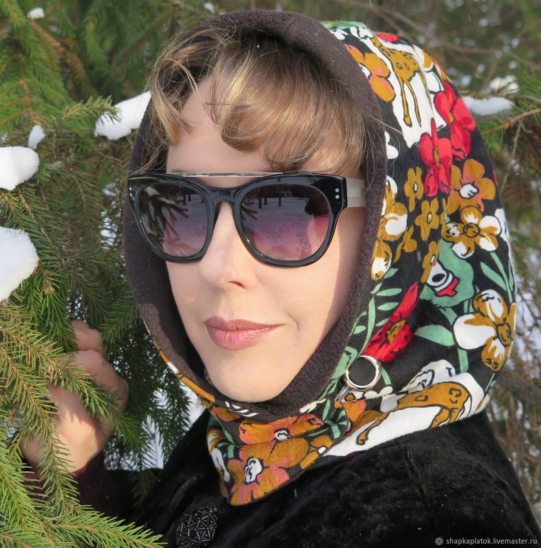 платок на шапку зимой
