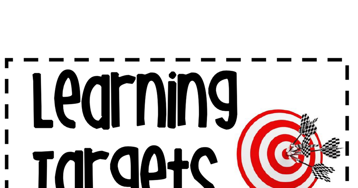 learning targets.pdf