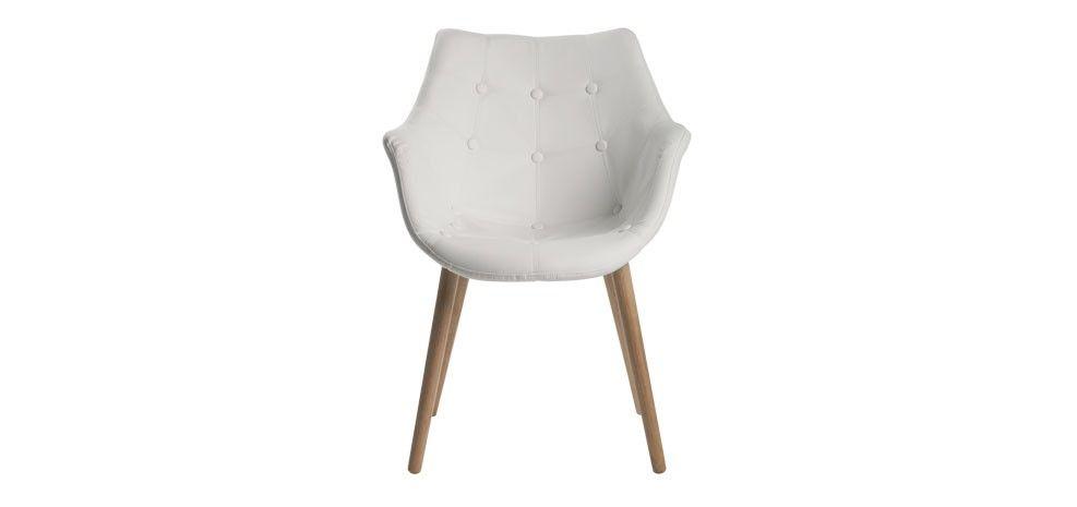 Chaise simili cuir blanc découvrez nos chaises en simili cuir