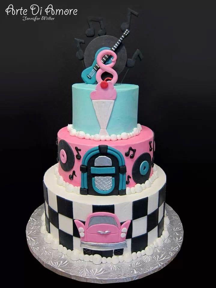 S Rockabilly Cake Stuff I Love Pinterest Rockabilly Cake - Rockabilly birthday cake