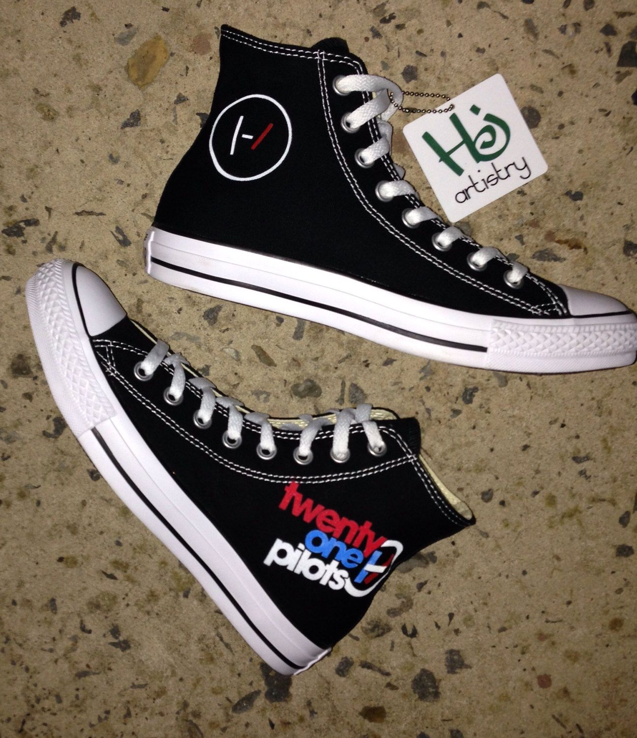 Twenty One Pilots Converse Shoes. TOP Shoes by HJArtistry on