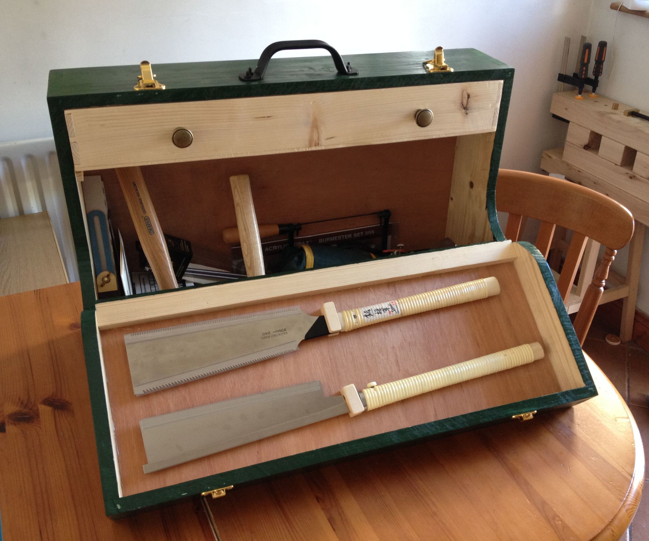 Beginning Woodworking Part 2: Fall Front Wooden Toolbox | Toolbox ...