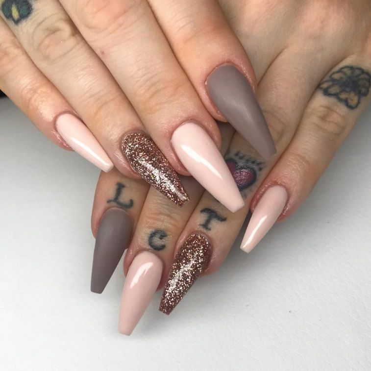Beautiful Nail Art Design To Try This Season Long Coffin Nails Autumn Nails Nail Colors Fall N Coffin Nails Designs Acrylic Nail Shapes Coffin Nails Long