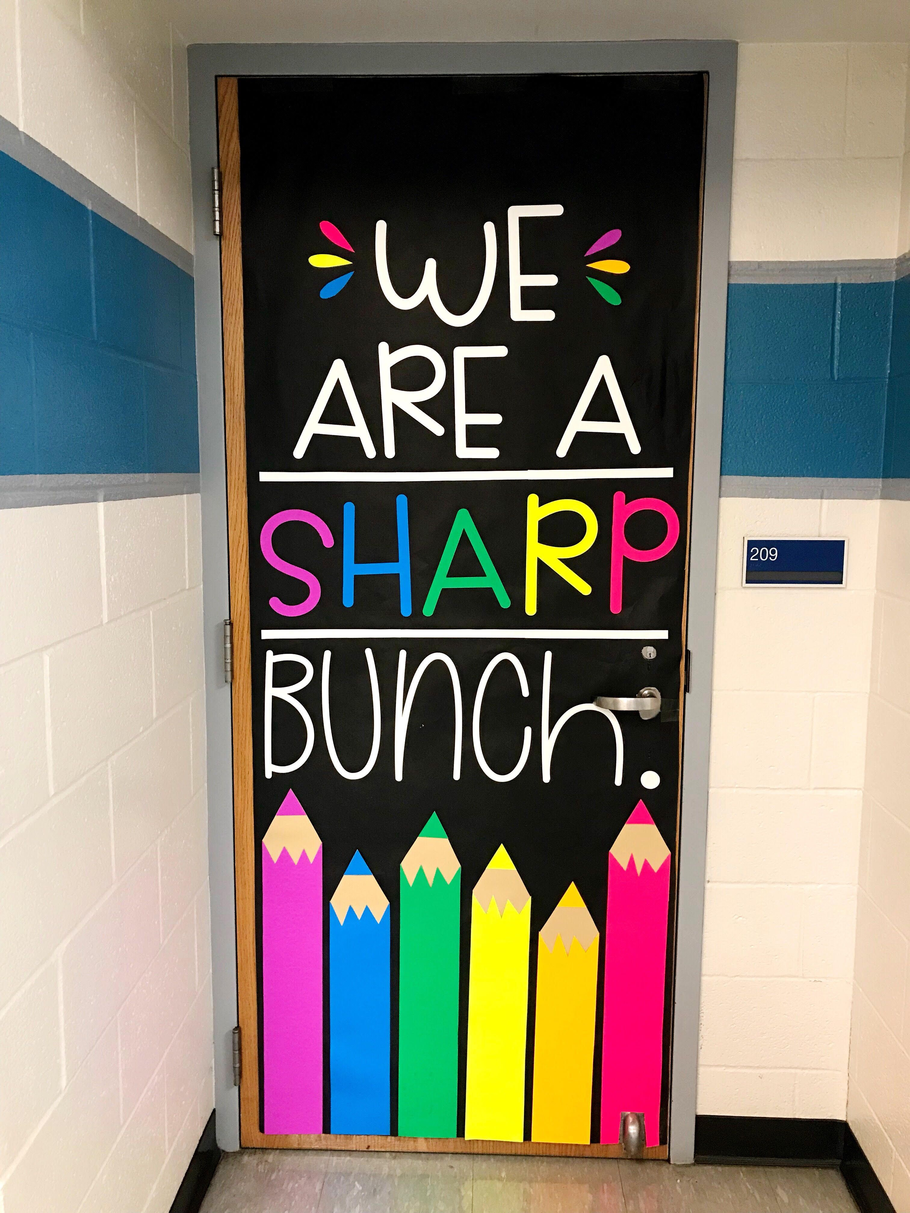 August Door Decoration Set We Are A Sharp Bunch By Joey Udovich
