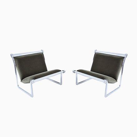 Sling Stühle von Hannah Morrison für Knoll, 1970er, 2er Set Jetzt - stühle für die küche