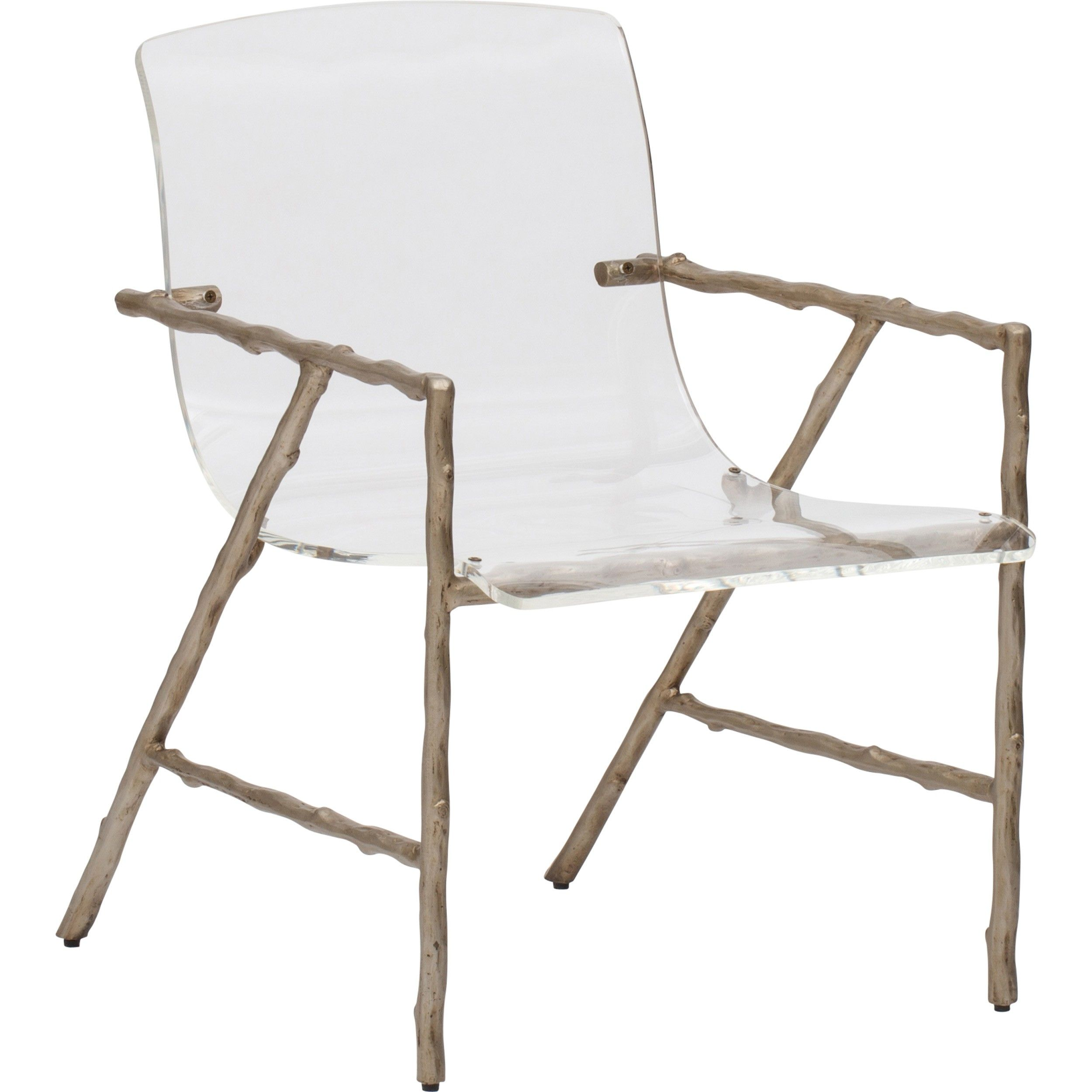 Dillard Acrylic Chair, Faux Bois Luxe