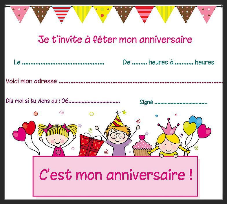 carte invitation anniversaire 8 ans fille dq39 jornalagora. Black Bedroom Furniture Sets. Home Design Ideas
