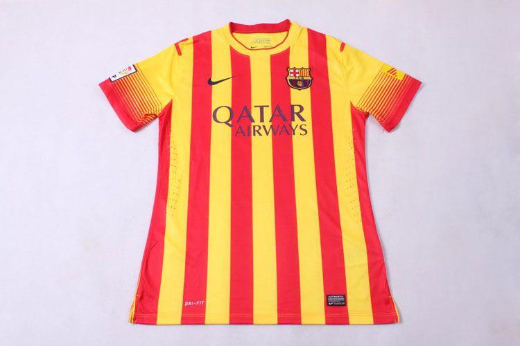 sale retailer 9f117 edfbc 13-14 Barcelona away orange/yellow soccer jersey/football ...