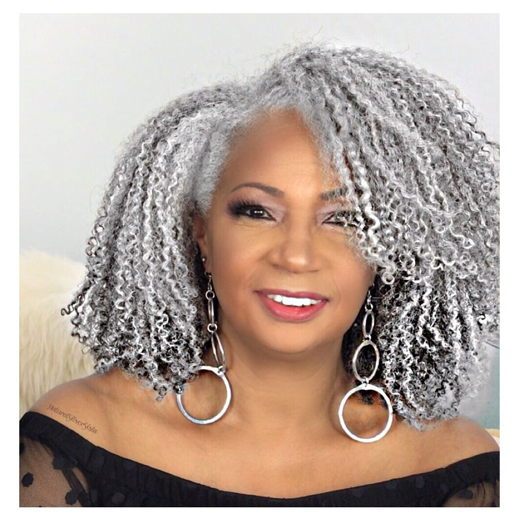 15 Of The Best Salt And Pepper Natural Hairstyles For Women 50 Natural Hair Styles Natural Gray Hair Hair Styles
