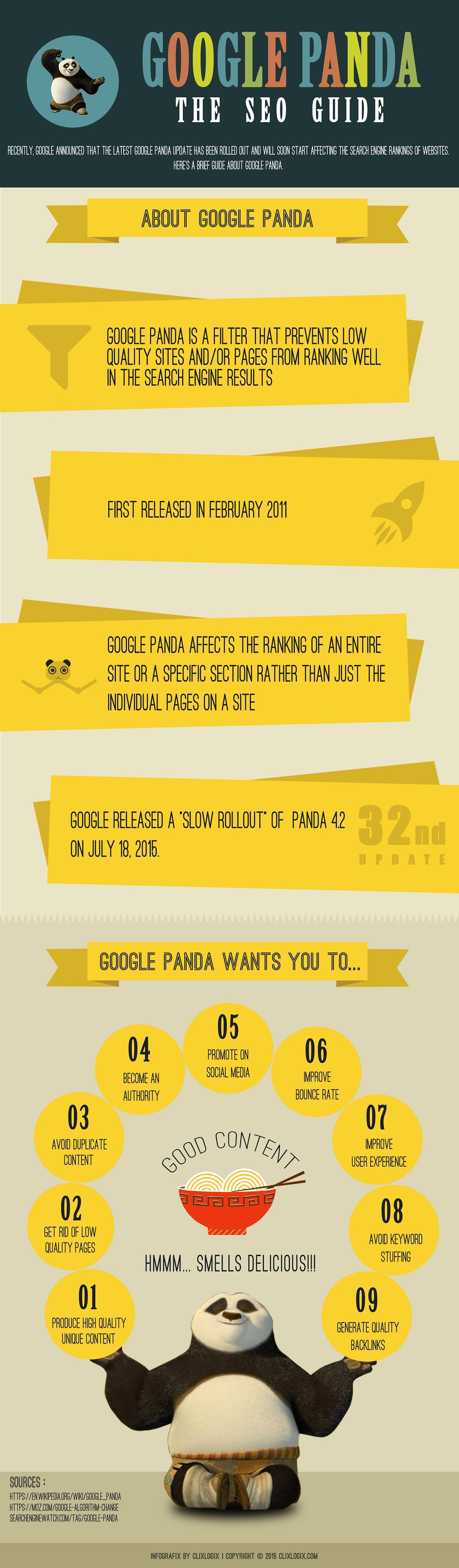 Google Panda: The SEO Guide #infographic