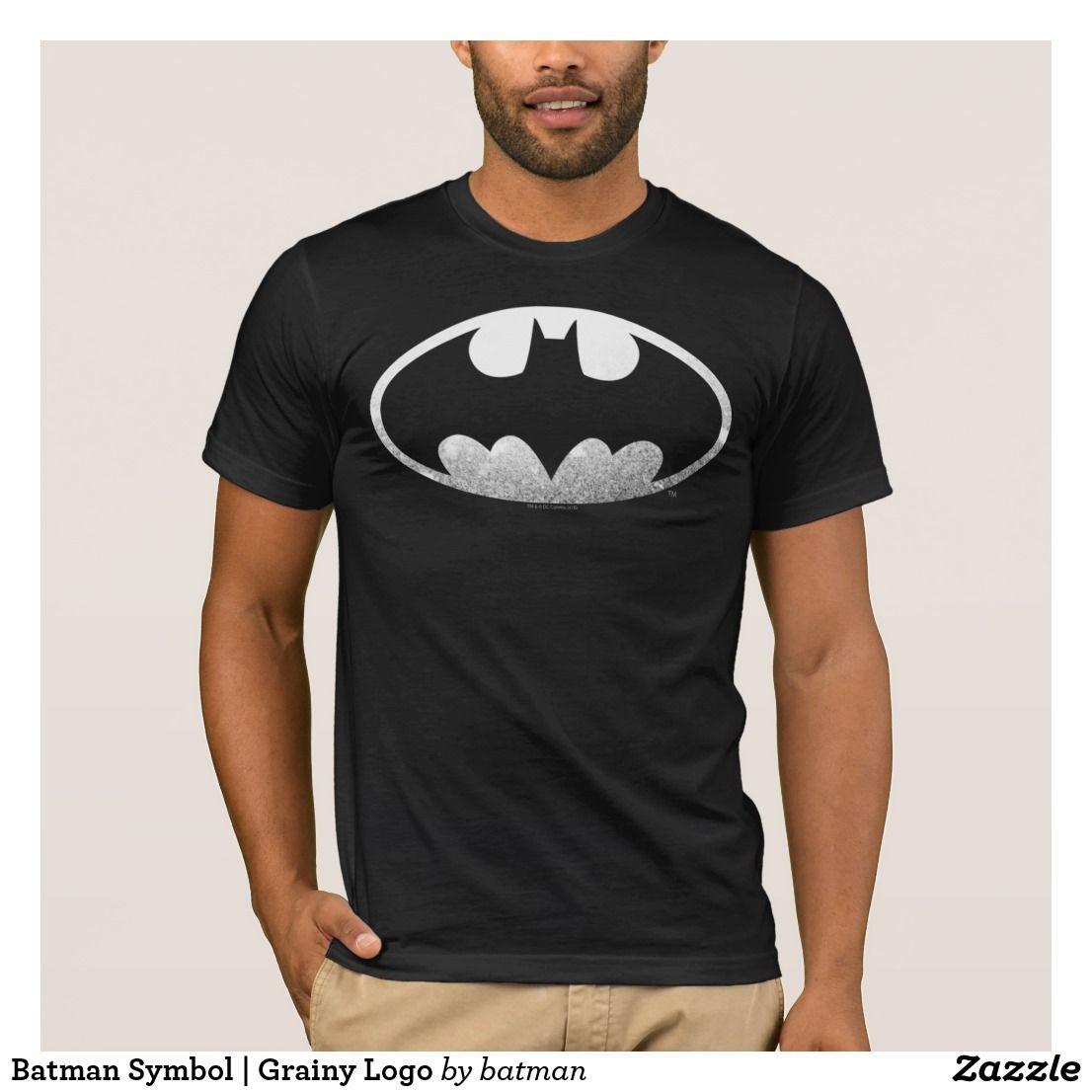 Batman Symbol Grainy Logo T Shirt Batman Batman Pinterest