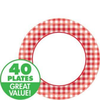 Serve up something sweet on these Picnic Party Red Gingham Dessert Plates. Picnic Red Gingham paper plates have raised edges to prevent spills and classic ...  sc 1 st  Pinterest & red checkered paper plates - Google Search | Grandpa\u0027s 100 Birthday ...