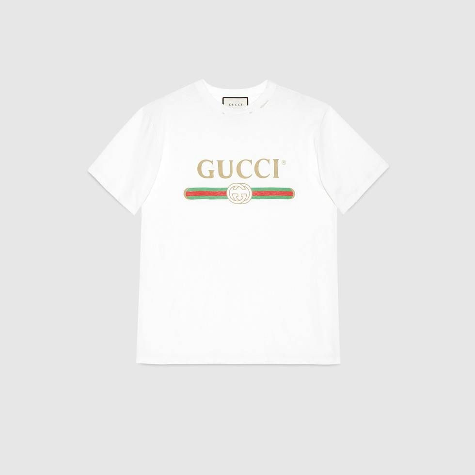 78f30157 Shop the Oversize T-shirt with Gucci logo by Gucci. An oversize Gucci  vintage