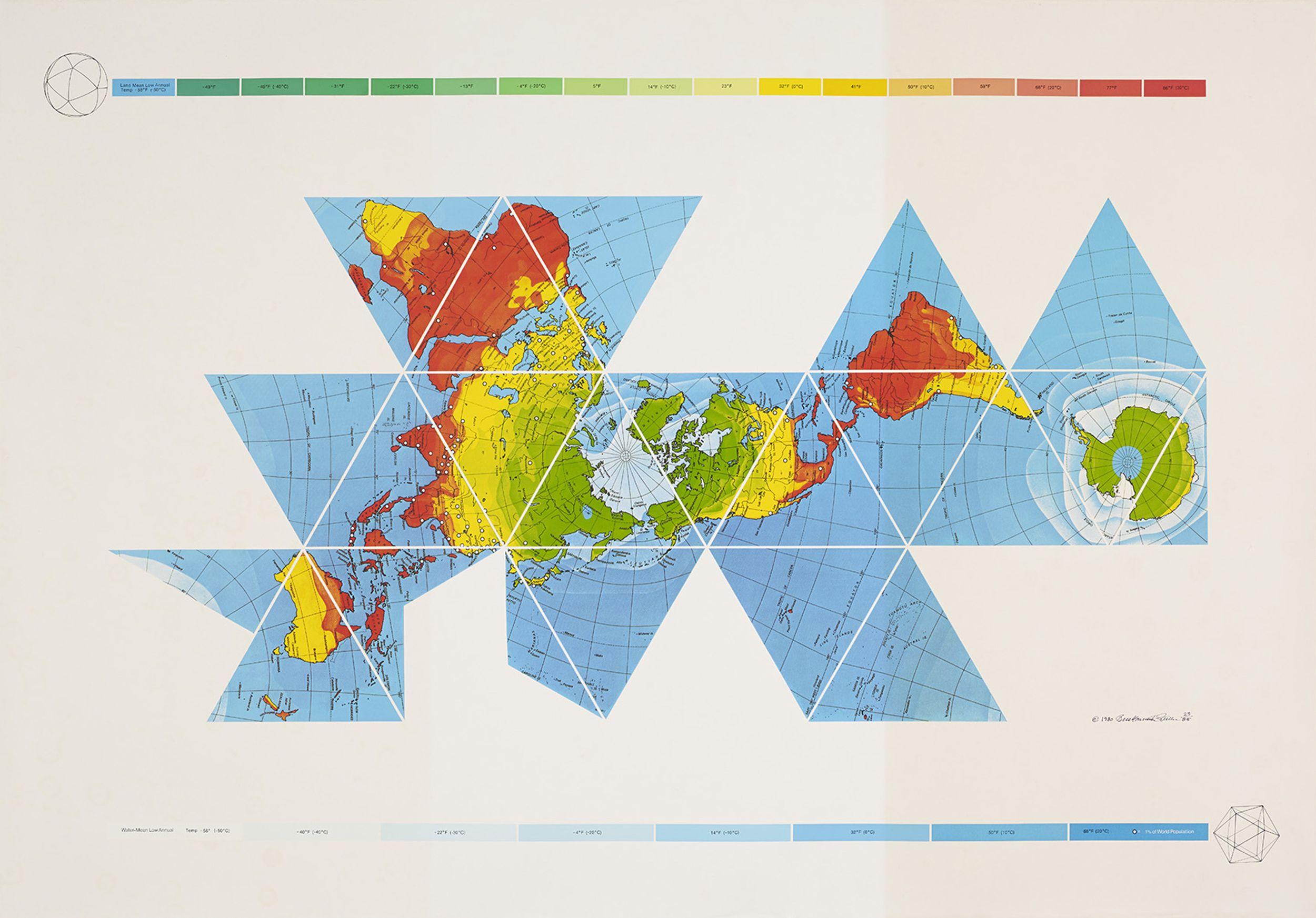 Dymaxion World Map, Richard Buckminster Fuller - ATLAS OF PLACES ...