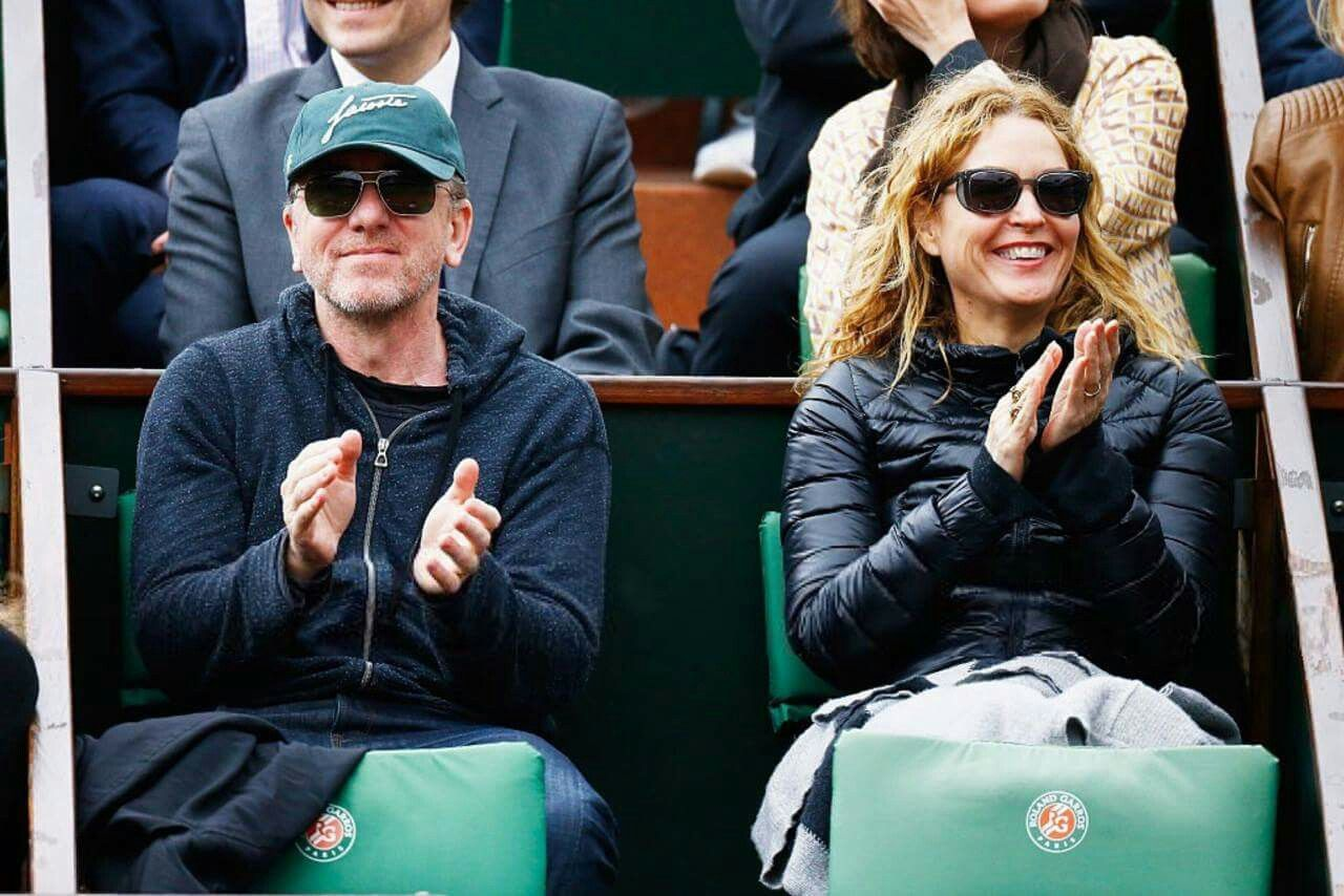 Tim Roth & his Wife at The french open 2016 Tim roth