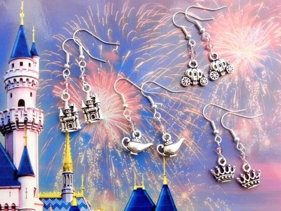 Fairy tale castle earrings Fairy tale by BohemianDesignStudio