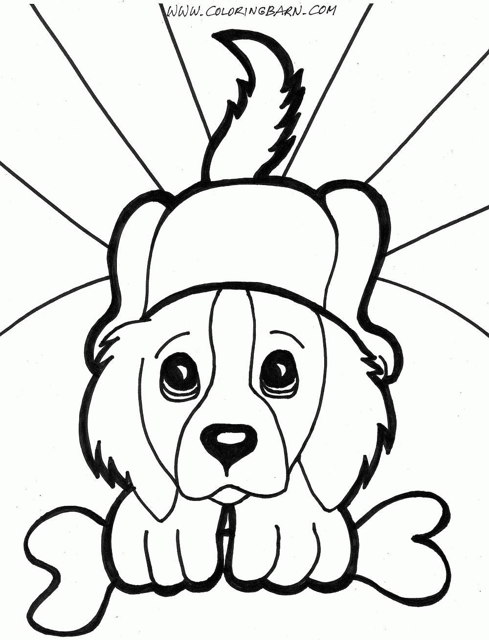 simple animal drawing puppy coloring pages for all agespuppy coloring with coloring pages draw easy animals