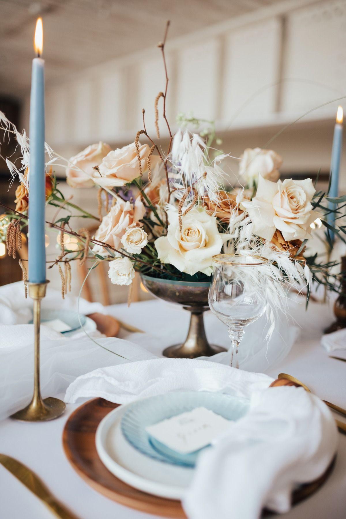 A modern bohemian wedding inspiration with dusty hues