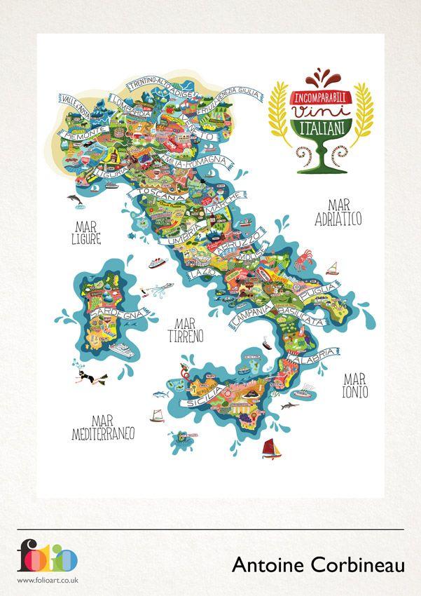 Antoine Corbineau: www.folioart.co.uk/illustration/folio/artists/illustrator/antoine-corbineau - Agency: www.folioart.co.uk - #illustration #art #digital #map