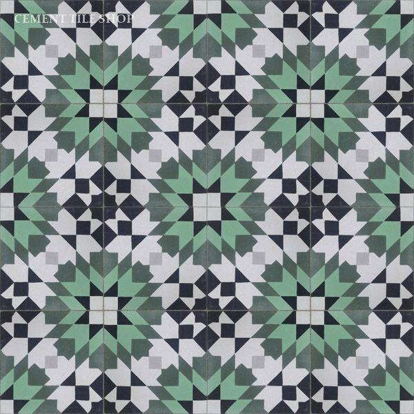 Cement Tile Shop - Encaustic Cement Tile | Casablanca Green