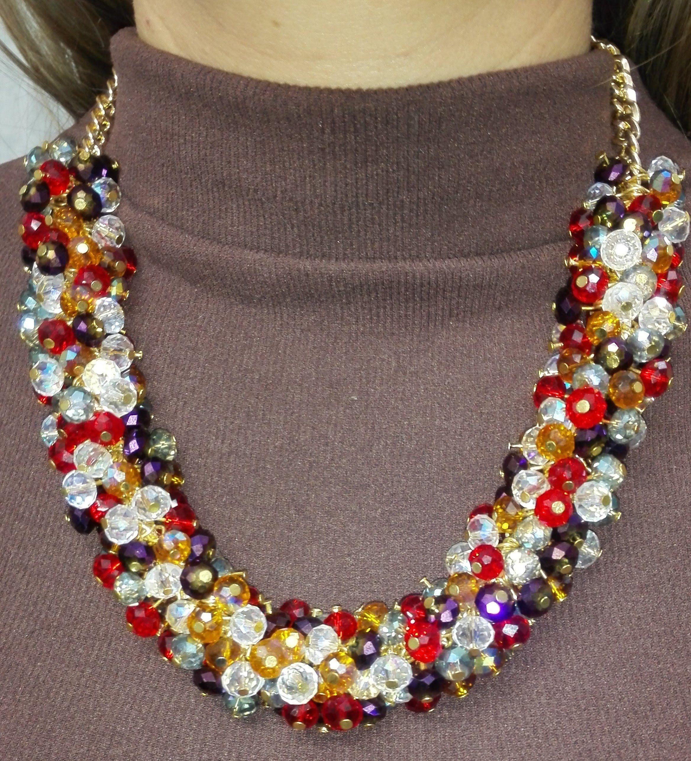 bede24ecd857 Como hacer un collar de murano multicolor