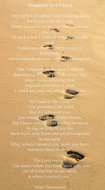 photograph regarding Footprints in the Sand Poem Printable Version known as footprints within just the sand poem Destinations toward Go to Footprints