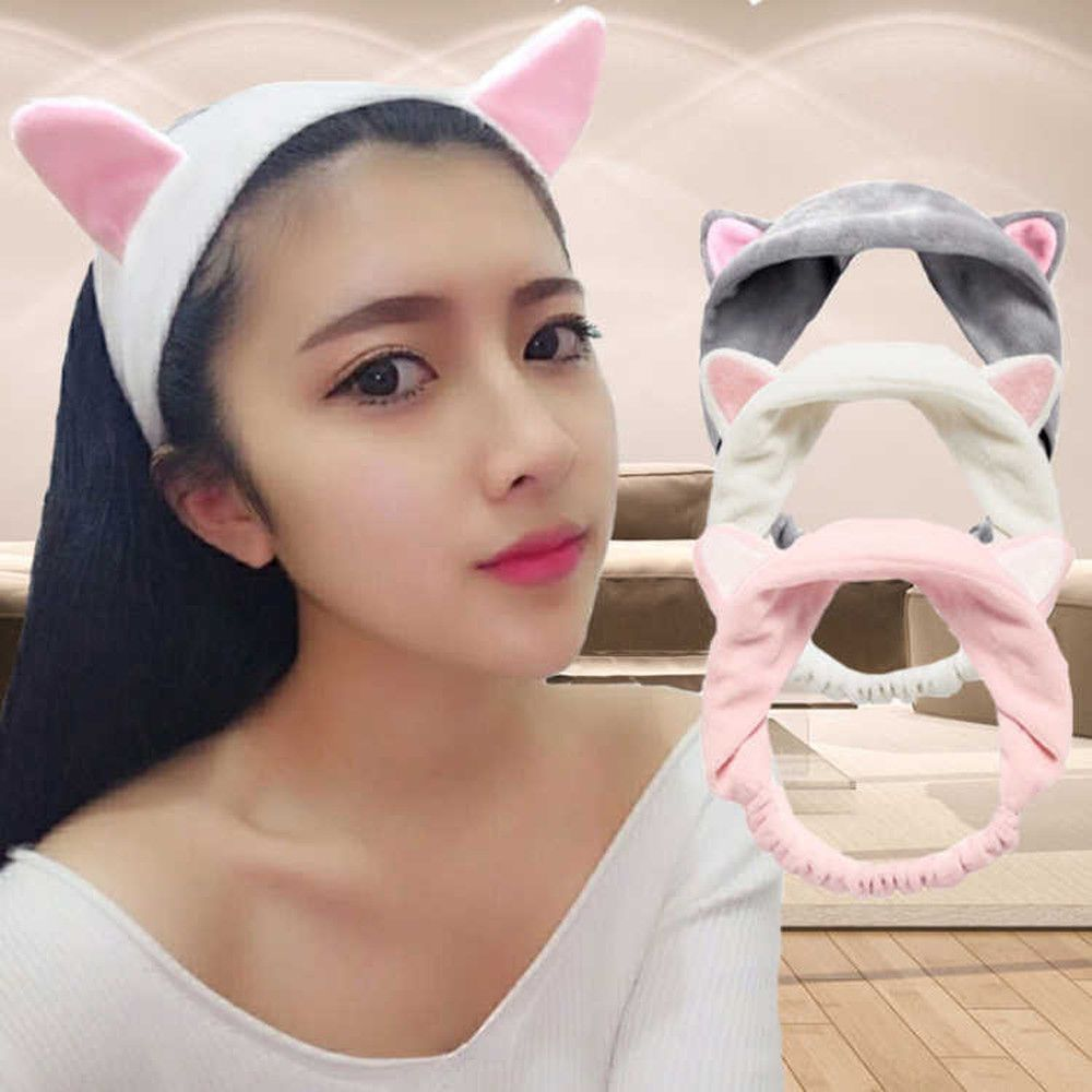6pcs cute cat ears glow in dark children headband party hairband accessories