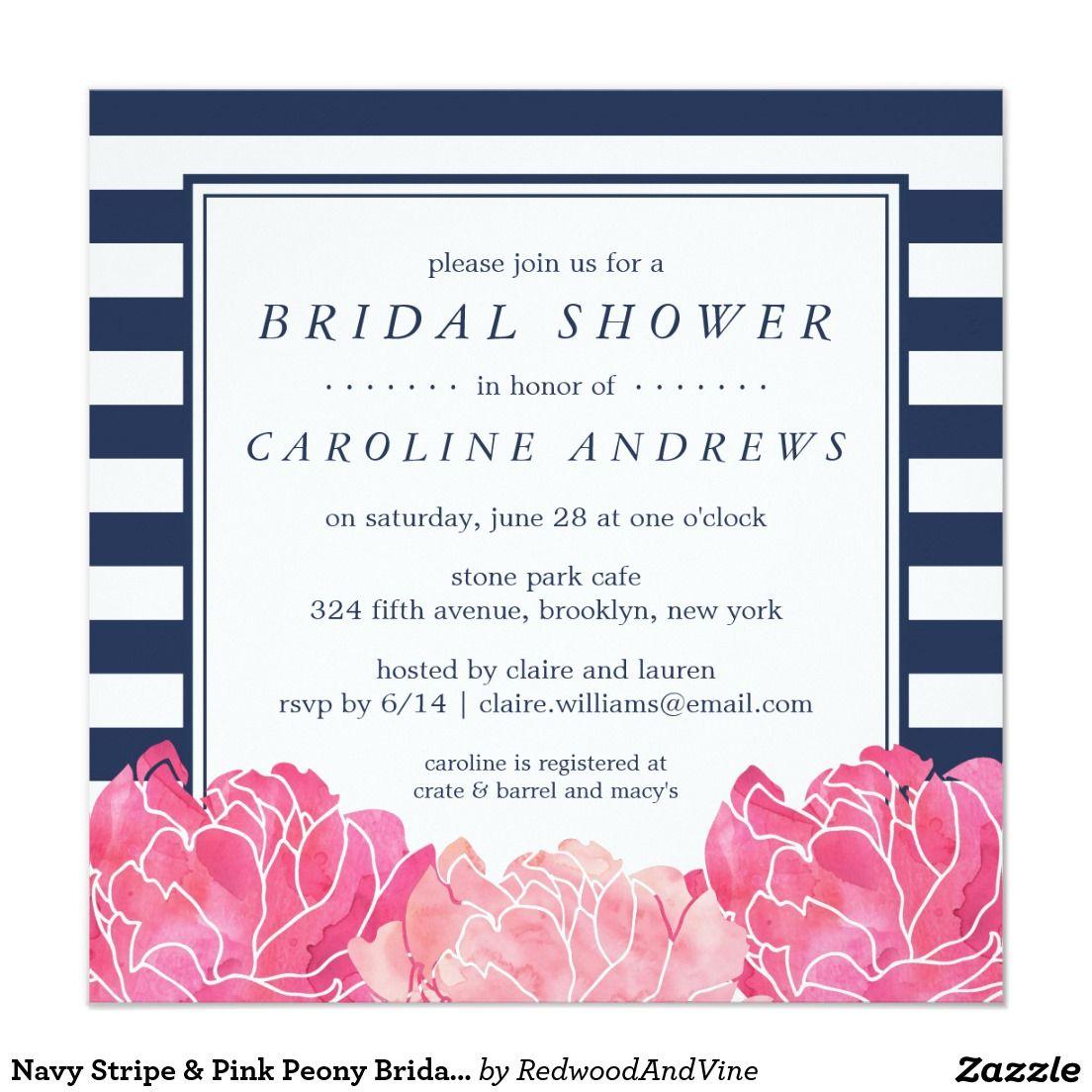 create your own invitation  zazzle  bridal shower