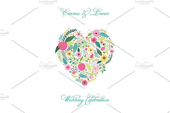 Cute Vintage Elements As Rustic Hand Drawn First Spring Flowers