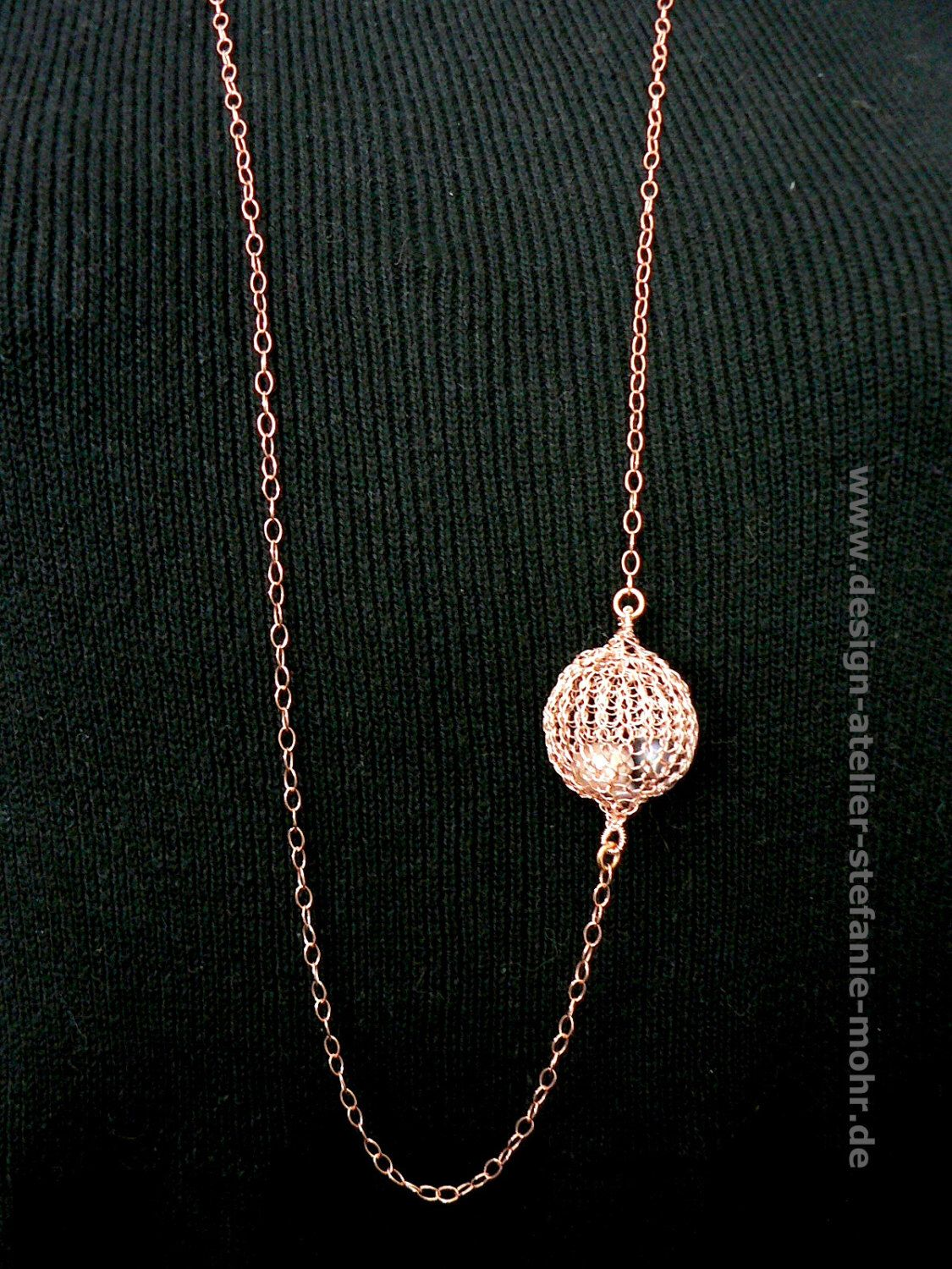 necklace wire crochet \