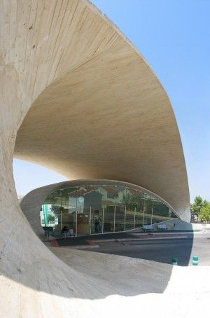 Bus Station in Casar de Cáceres Spain by Justo García Rubio
